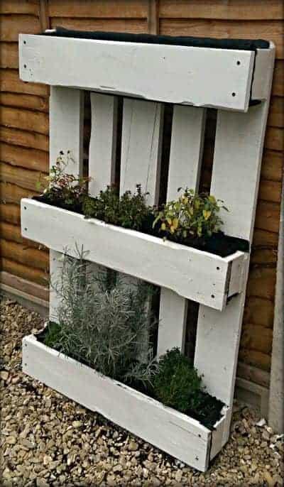 how to make a pallet herb garden