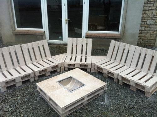 Pallet Sofa Corner Set