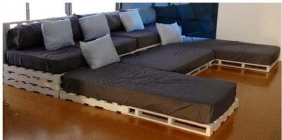 Pallet Sofa for Cinema Room