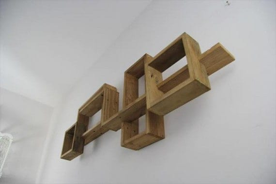funky pallet wall shelf