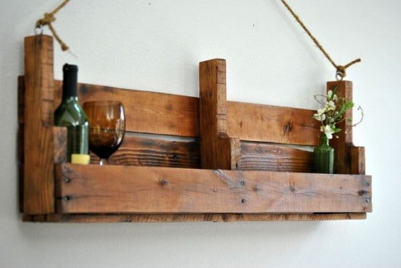 Pallet Shelf And Wine Rack Ideas