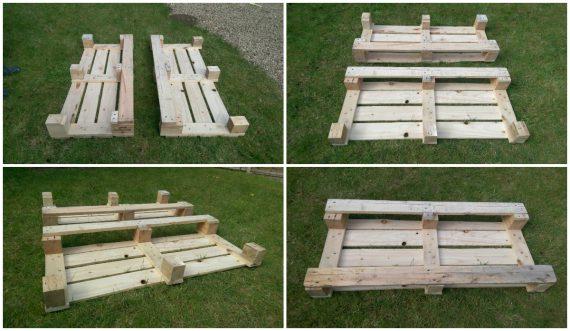 pallets after sanding