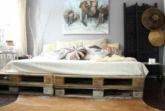 bed-frame-furniture-from-pallet-diy-