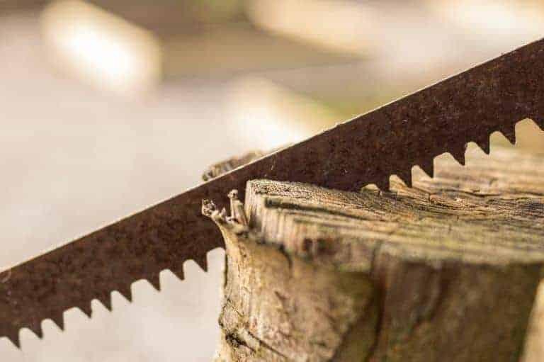 jigsaw blade cutting wood