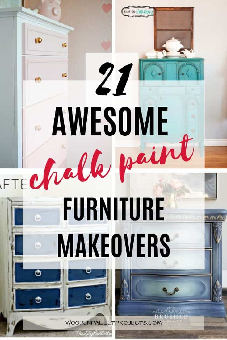 4 images with painted furniture and writing 21 awesome chalk paint furniture makeovers