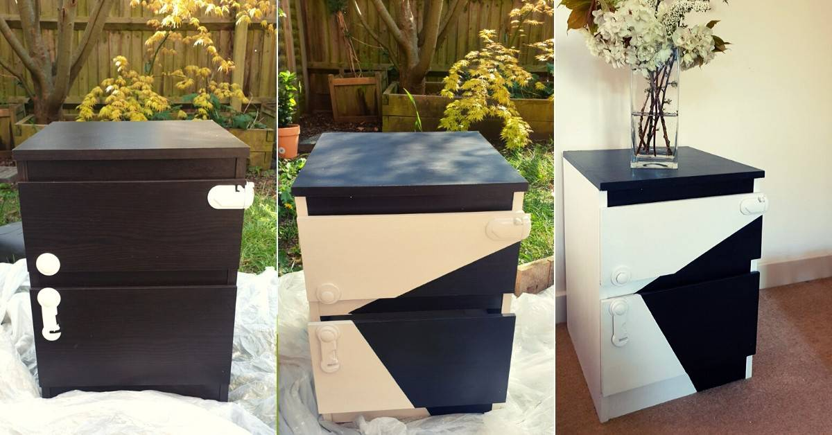 Painting Laminate Furniture Ikea Malm Nightstand Makeover